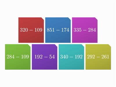 Maths tiles column subtraction challenge