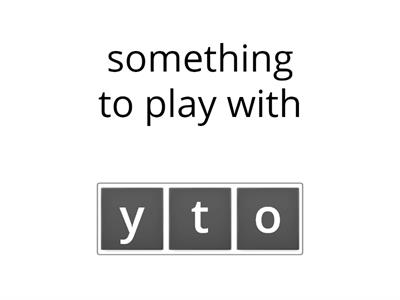 oi and oy words-letter unscramble