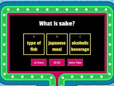 Japanese food quiz
