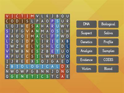DNA Wordsearch