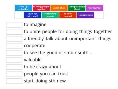 English 9 Unit 2 Lesson 3 Choose the right synonym to the following words and phrases.