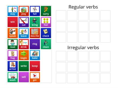 Regular & Irregular verbs