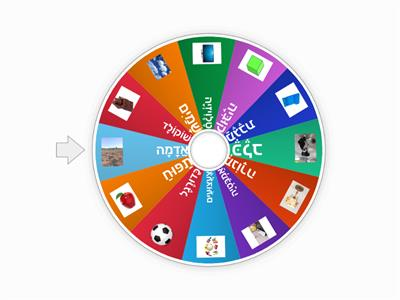 Random Words wheel