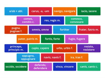 Latin OLC Vocabulary Box 7