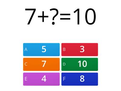 Number bonds to 10 and 100