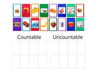 Копия Countable and Uncountable Food