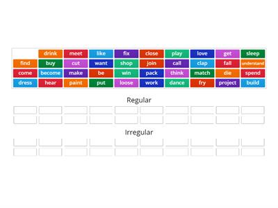 Past Simple: regular/irregular verbs