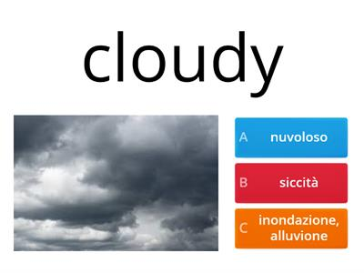 Per verifica di inglese: WEATHER
