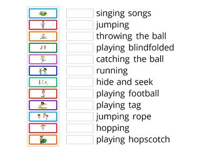 Playground games and activities