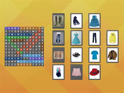 CLOTHES WORDSEARCH 2nd & 3rd