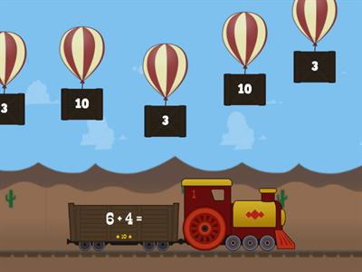 PRACTICE: Addition Facts to 10 - Balloon Pop!