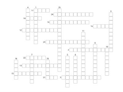 Earth Science Vocabulary Crossword WORDWALL