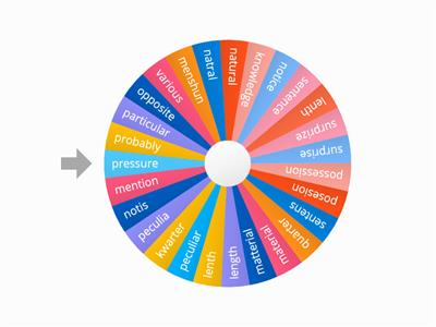 High Frequency Words - word wheel