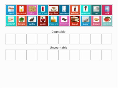 Food: Countable/Uncountable nouns