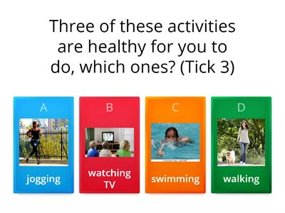 Healthy Living quiz Year 2