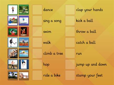 AS1 U5 Action Verbs Match
