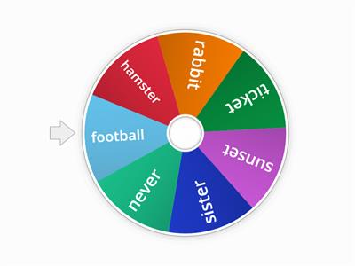 two syllable word wheel