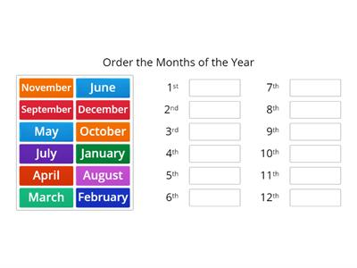 Copy of Months of the Year