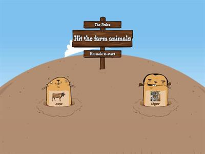 Farm animals (Whach-a-Mole)