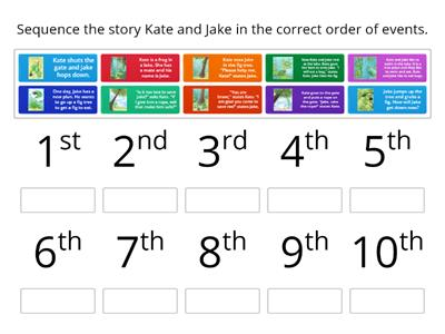 sequence the story Kate and Jake RAZ story (long /a/ a-e)