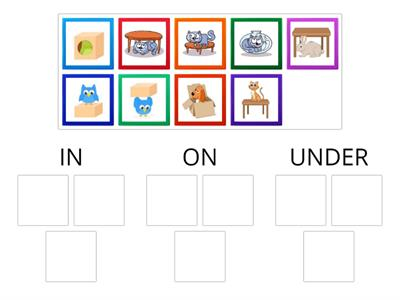 Prepositions: In -  On - Under