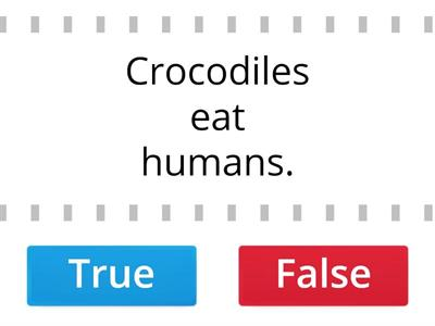 True/False - Facts about animals