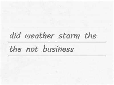 Weather Idioms (unjumble)