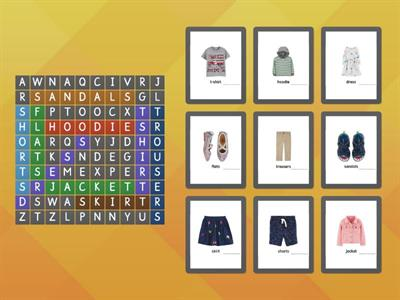 Wordsearch: clothes