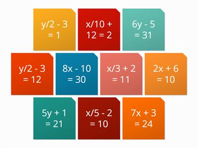 Solving Equations - Two Steps