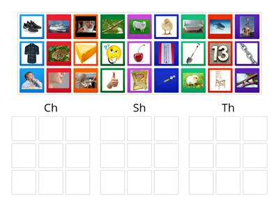 Picture Sort for Ch-, Sh- Th-