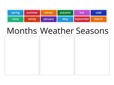 NBB3 Unit 4 Months / Weather / Seasons