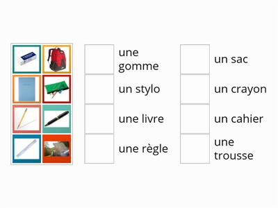 French Stationery Matching Game