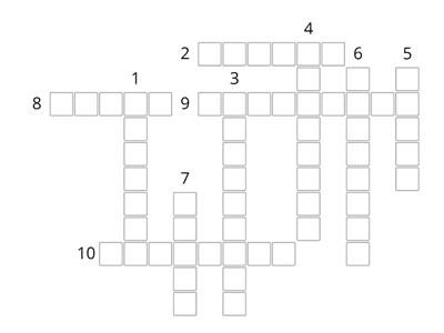 Months, Days, Dates - Crossword!