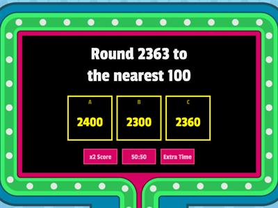 Rounding Numbers to the Nearest  and 100