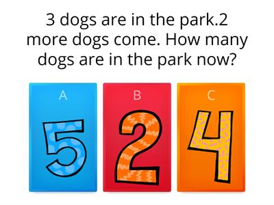 Word Problem (use your fingers, pictures, ten frame or tally marks to solve the problems)