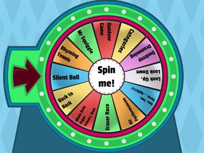 Brain Break Wheel