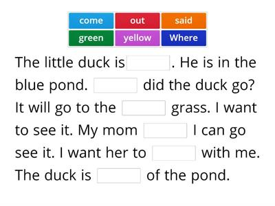 Unit 5 sight words