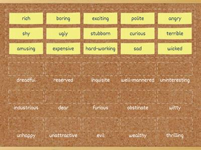 35 Synonyms - more adjectives