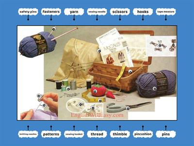 Vocabulary - Sewing and Knitting