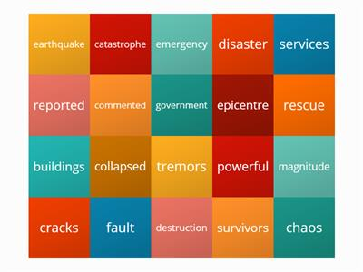 Earthquake vocabulary report