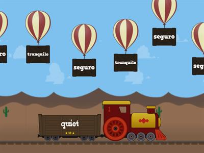 Adjectives describing transport - Ballon pop