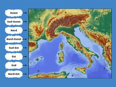 Cartina Italia Nord Sud Est Ovest.Geografia Est Ovest Nord Sud Risorse Per L Insegnamento