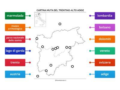 Cartina Muta Del Trentino Alto Adige.La Regione Trentino Alto Adige Risorse Per L Insegnamento