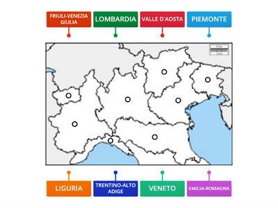 Cartina Fisica Dell Italia Settentrionale.Regioni Nord Italia Verifica Risorse Per L Insegnamento