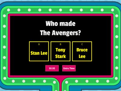 The orginal Avengers- quiz