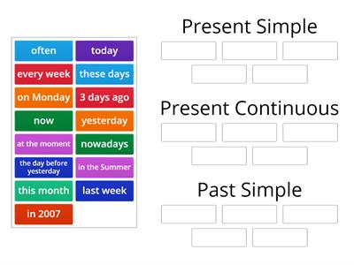 Present Simple/ Continuous & Past Simple