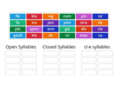 Syllable Sort L, O, C