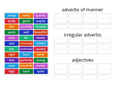 English Class A2+  unit 5.2 adverbs