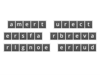 -er and -est for blends Scramble Words
