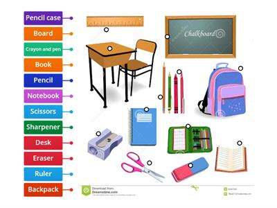 labelled diagram Classroom Objects